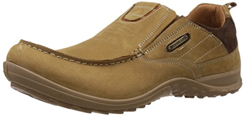 Woodland Men's Camel Leather Sneakers - 9 UK/India (43 EU)  available at amazon for Rs.1857