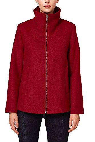 ESPRIT Damen 088EE1G034 Mantel, Rot (Garnet Red 620), Medium