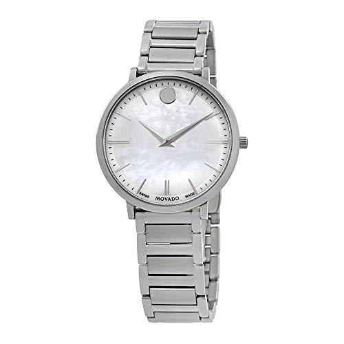 Movado Women's Ultra Slim 35mm Steel Bracelet Swiss Quartz Watch 0607170