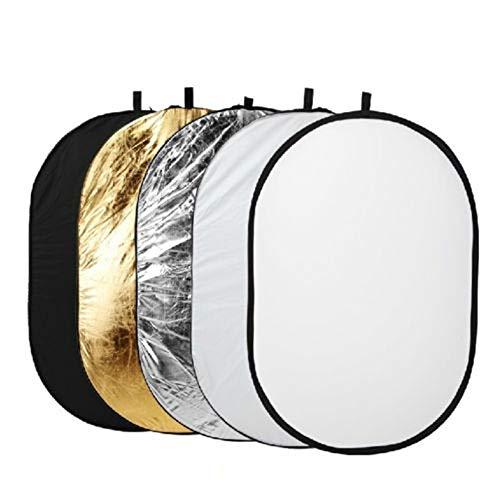 Wenhu 100 X150cm 5-in-1-Oval-Studio-Licht Multi Faltbarer Foto-Reflektor für Fotografie Außenbeleuchtung Bord (Fotografie Außenbeleuchtung)