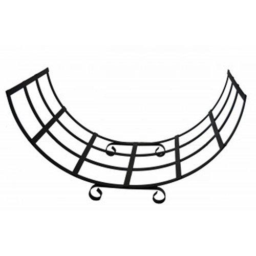 Extra Large Handmade Metal Curved Log Basket