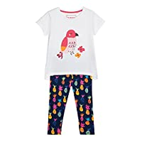 Bluezoo Kids Girls' Pink Assorted Print Top And Leggings Set Age 2-3