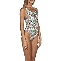 7cc0207f22b2 arena W Summer Comics Swim Tech One Piece L - Costume da Bagno da Donna,