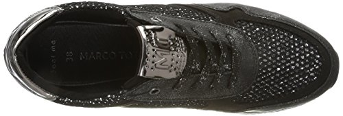 Marco Tozzi Damen 23701 Sneaker Schwarz (Black Comb)