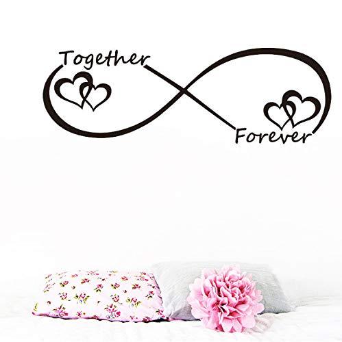 Fandhyy Zusammen Für Immer Herz Kreative Geschnitzte Wand Wohnzimmer Schlafzimmer Hintergrund Aufkleber Wohnkultur Valentinstag Wandaufkleber