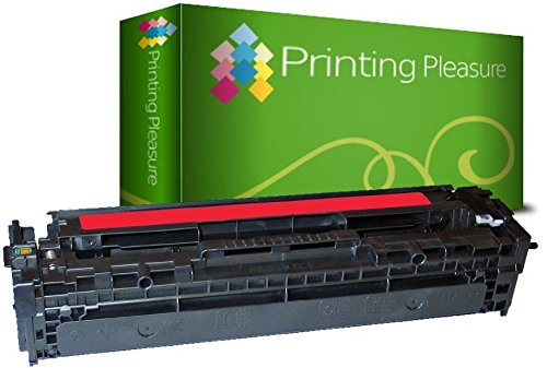 Printing Pleasure Toner kompatibel für HP Laserjet Pro 200 Color M251n M251nw MFP M276n M276nw CM1312 CM1312nfi MFP CP1215 CP1515 CP1515n CM1415fn CM1415fnw CP1525n CP1525nw - Magenta, hohe Kapazität (131 Hp Tonerkassette)