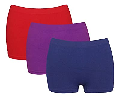 G3 Ladies Microfibre Breathable High Waisted Boxershorts/Boyshorts Womens Knickers Red Purple Navy