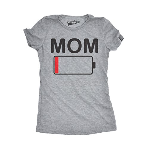 674dcb4b3 Crazy Dog Tshirts - Womens Mom Battery Low Funny Empty Tired Parenting  Mother T Shirt (