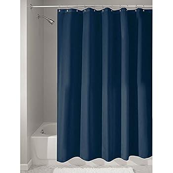 Miomare Textil Duschvorhang inkl. Ringe, 180 x 200 cm (Blau / Blau ...