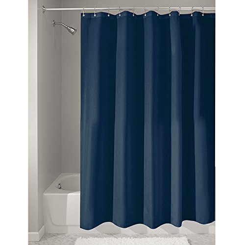 Water-Repellent Fabric Shower Curtain, 180 x 180 cm, navy ()