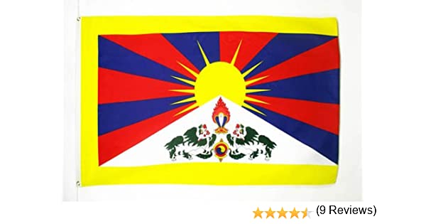 Bandiera TIBETANA 60 x 90 cm AZ FLAG Bandiera Tibet 90x60cm