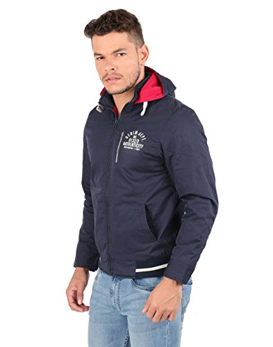 Oxemberg Blue Slim Fit Men's Cotton Jacket