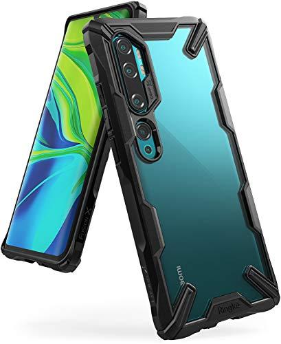 Ringke Coque Compatible avec Xiaomi Mi Note 10, Mi Note 10 Pro, Mi CC9 Pro, [Fusion-X] Antichoc de Protection [Militaire Défense Testée] Résistant aux Rayures PC Solide Rigide TPU Bumper pour - Black