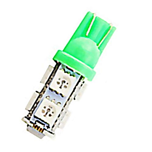 Ndier T10 9 LED Ampoules Wedge W5W LED SMD 5050 Blanc 12V Voiture Ampoule LED pour Carte Dôme Lampe de courtoisie Trunk Plaque d'immatriculation Tableau de Bord des Feux de stationnement 10 Pack Vert