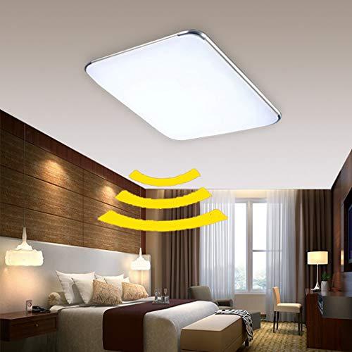 ADEMAY LED Sensor Deckenleuchte Deckenlampe Radar Sensorleuchte mit Bewegungsmelder für Wohnzimmer Schlafzimmer Flurleuchte Innenbeleuchtung (Platz-24W Kaltweiß)