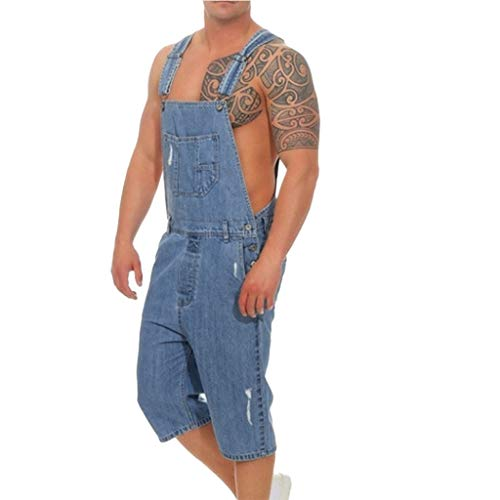 UFACE Jeanshosen Casual Hosen Männer Overall Casual Jumpsuit Jeans Denim Pants Destroyed Slim fit Jogger Jeans