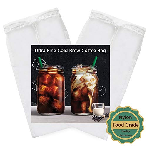 2 PACK – Cold Brew Coffee Tasche – 21,8 x 12,7 cm Ultra Fein mesh-75 Micron...