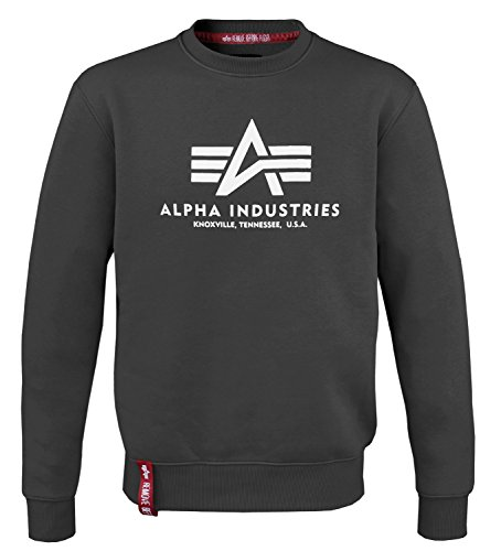Alpha Ind. Basic Sweater schwarz - XXL (Pullover Alpha)