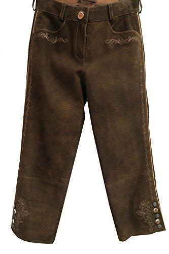 Spieth & Wensky Damen Kniebundhose braun aus Ziegenleder Gr.34