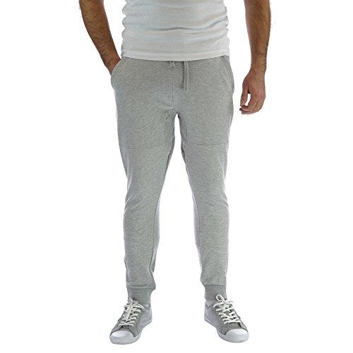 Pantaloni da corsa leggera da uomo, con onice nero picchiettato Harem Skinny Pants Slim Fit, pantaloni da Jogging Grigio  XL