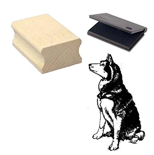 « HUSKY » Motivstempel mit Kissen Scrapbooking - Embossing - Basteln - Hund -