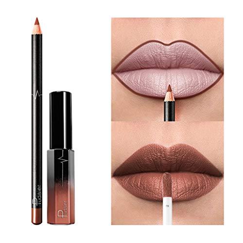 Rouge à lèvres, LEEDY Longue durée de imperméable à l'eau Mat Liquide Gloss Set De CosméTiques De Maquillage De