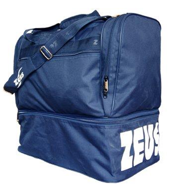 ZEUS Borsa Medium Borsone Uomo Calcio Palestra Piscina Tracolla Sport 48 x 50 x 27 cm - Blu