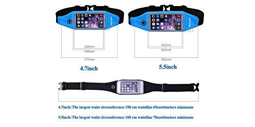 West ciclismo Walking Corsa Cintura Marsupio Pouch Borsa per iPhone 6, 6S, 6Plus, 6s Plus, Samsung Galaxy S5, S6 Black