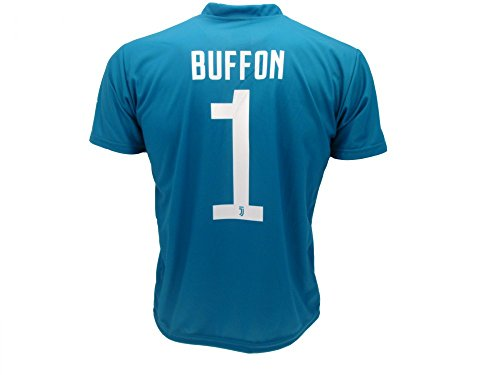 T-Shirt Fußball Gigi Buffon 1 Juventus Blau Saison 2017-2018 Replica Offizielle mit Lizenz - Alle Größen Kinder und Erwachsene (L Large) (Ape-logo-t-shirt)