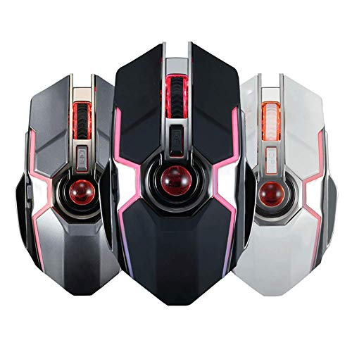 Dell-tastatur-tasten (YZYL Gaming-Maus, kabellos, 2400DPI mit Vier Tasten mit Vier Geschwindigkeiten, geeignet für Spiele oder Büro, kompatibel mit verschiedenen Geräten)