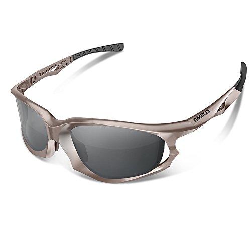KKUP2U Fahrradbrille Polarisierte Sport Sonnenbrille Herren und Damen mit UV400 Linse und Mode Design für Radfahren Laufen Klettern Autofahren Laufen Angeln Golf Unisex