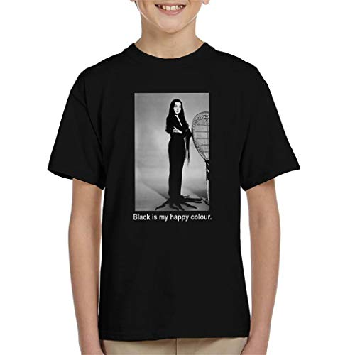 The Addams Family Morticia Black is My Happy Colour Kid's T-Shirt (Addams Fester Der Von Family)