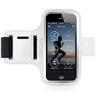 iPod Touch Running Armband | Smash Terminator Neoprene Sports Gym Arm band for iPod Touch 1st, 2nd, 4th, 5th, 6th & New 7th Generation. 8gb, 16gb, 32gb & 64gb with Key Holder and Reflective Strip (As Seen in Runners World Magazine - 5 Stars) inc. 18-Month Warranty (White)