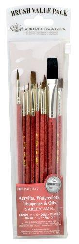 Royal & Langnickel - Set di 10 pennelli assortiti, con peli di cammello e zibellino