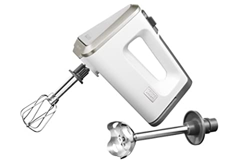 Krups GN 9031 Handmixer 3 Mix 9000 Deluxe Schnellmixstab (500 Watt, mit Turbostufe) Rührbecher, Schnellmixstab, weiß/grau