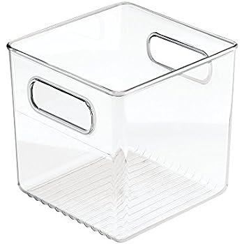 InterDesign, Conteneur de stockage pour cuisine, cellier, réfrigérateur, congélateur - Cube, Transparent