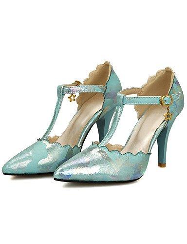 WSS 2016 Chaussures Femme-Mariage / Habillé / Soirée & Evénement-Noir / Bleu / Rose / Beige-Talon Aiguille-Talons-Chaussures à Talons-Microfibre beige-us8 / eu39 / uk6 / cn39