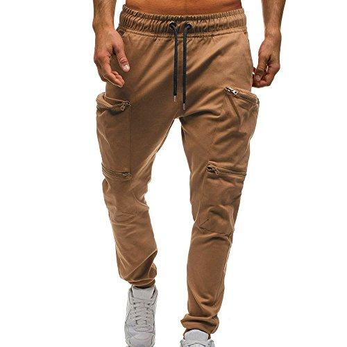 ELECTRI Pantalons de survêtement de Camouflage décontractés,Hommes Tout Droit Cordon de Serrage Classique Jogger Pantalons Taille Elastique Pantalons