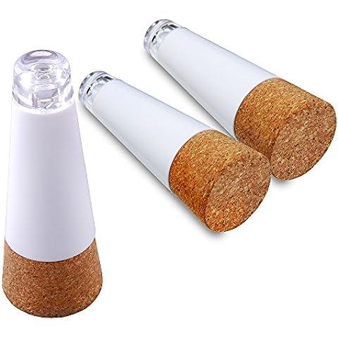 Sunvito 3 Packs Premium USB Recargable Corcho Brillante LED Vino Botella Luz Accionada para Las Partes, Los Amantes del Vino (3,