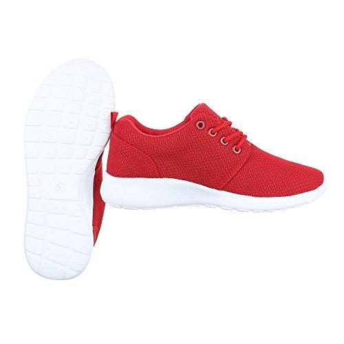 Ital-Design, Sneaker donna Rot KK-60