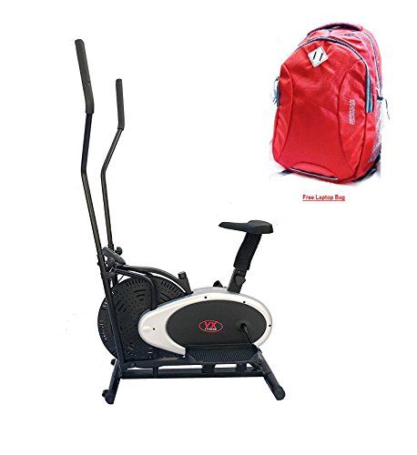 Orbitrek 4 in 1 Exercise Bike| Multi Orbitrac Elliptical Cardio Workout|Orbitrack Dual Action Trainer with Seat| Fitness Cross Trainer Cycle| Sitting Pedaling/Standing Rowing| orbitrack cycle  available at amazon for Rs.8999