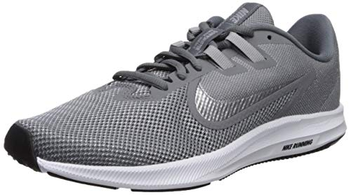 Nike Wmns Downshifter 9, Zapatillas de Running para Mujer, Gris (Cool Grey/Mtlc Silver/Wolf Grey/Black/Pure Platinum/White 004), 38 EU