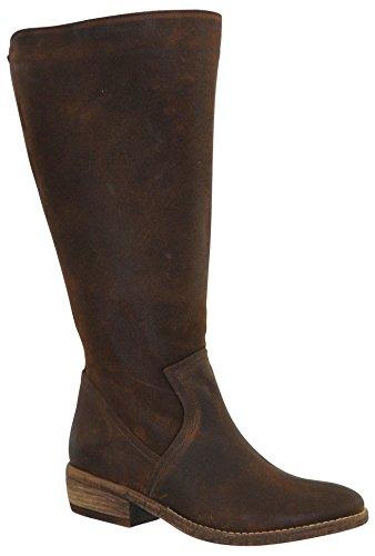 JJ Footwear Damen Stiefel Leder Alexandria XL Braun