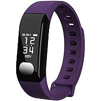 BreLINE Pulsera Actividad Bluetooth Pedometer Sedentary Recuerde Monitor de Sueño Notificaciones Reloj Deportes Nueva Reloj con Android Smartphones como Samsung/Sony/Huawei