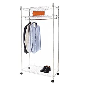heavy duty premium clothes rail over 100kg total. Black Bedroom Furniture Sets. Home Design Ideas