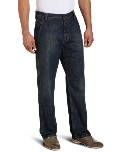 Eddie Bauer Herren Jeans Normaler Bund 11107422 Blau (Worndark)