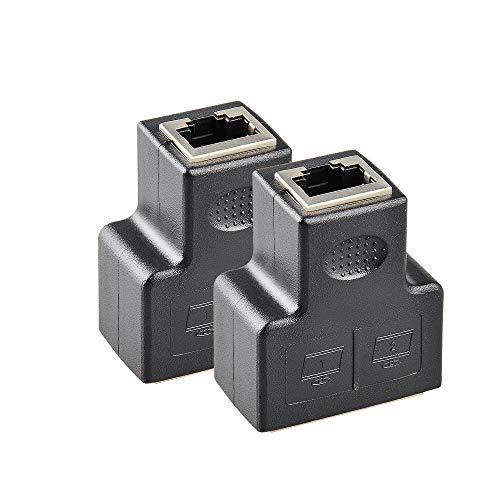 Linkmall Conectores Splitter RJ45 Adaptador 1 2 Puertos