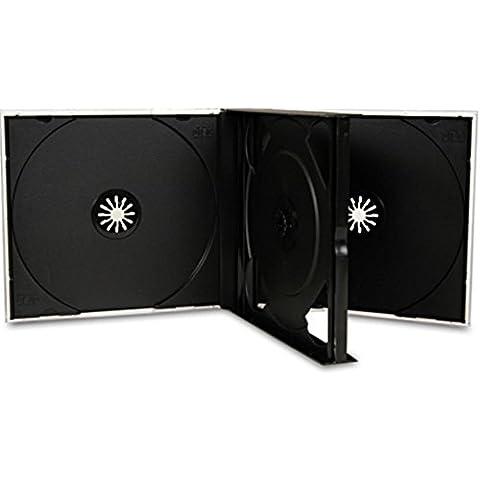 Four Square Media Media–5cajas para 3CD o DVD (25mm disco con bandeja en color negro pack de