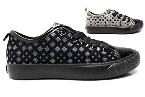 Fiorucci FDAD018 Nero e Grigio Sneakers Donna Calzature Comode Woman Grigio