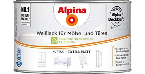 Alpina - Weißlack für Möbel & Türen Extra matt - 300 ml
